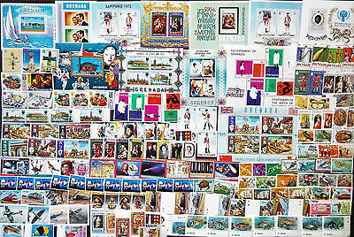 Large Collection Of Mint British Caribbean Stamps