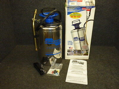 New! Chapin 2 Gallon Premier Stainless Steel Tank Sprayer, Funnel Top, 1253