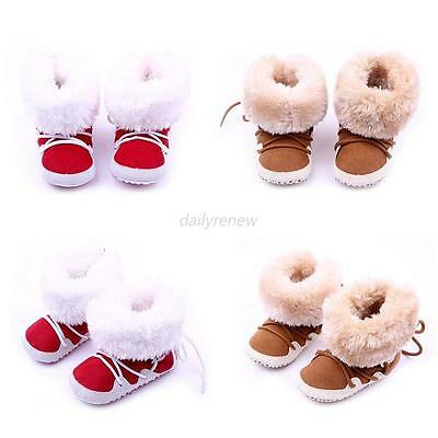 0-12 Months Baby Girls Newborn Winter Warm Boots Toddler Infant Soft Sole Shoes