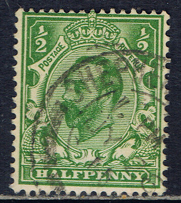 Great Britain #151(10) 1911 1/2 pence green King George V Used CV$4.50