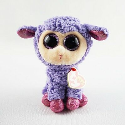 "6"" Ty Beanie Boos Lavender Purple Lamb Plush Stuffed Animals Girl Toys With Tag"
