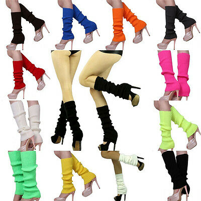 Fashion Women Crochet Knit High Knee Leg Warmers Leggings Winter Warm Boot Socks