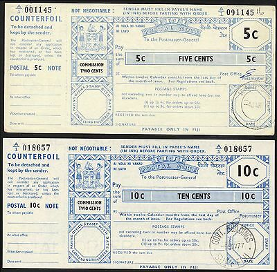 Fiji, Thirty Cents postal order, Two Cents Poundage, with counterfoil.