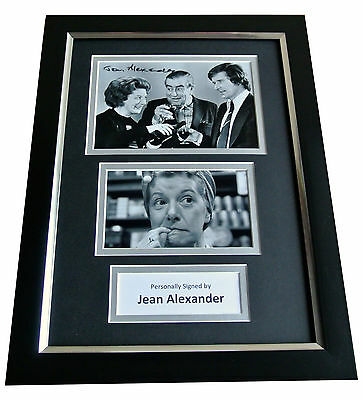 Jean Alexander Signed A4 FRAMED Photo Autograph Display Coronation Street & COA