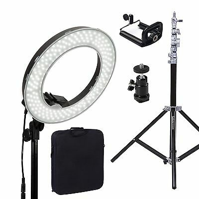 "Dimmable Diva LED Ring Light 14"" 5500K With Diffuser Light Stand For Video Photo"