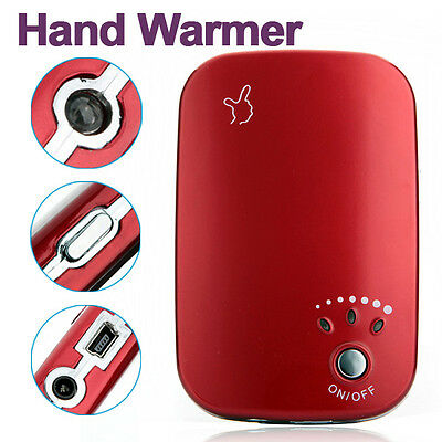 Rechargeable USB Charger Pocket LED light Portable Electric Hand Warmer Heater