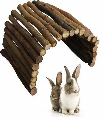 Extra Large 51 X 30 Cm Natural Wood Cave Rabbit Guinea Pig Hutch Run Den Lb912
