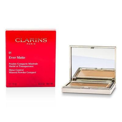 Clarins Ever Matte Shine Control Mineral Powder Compact -  01 Transparent Light