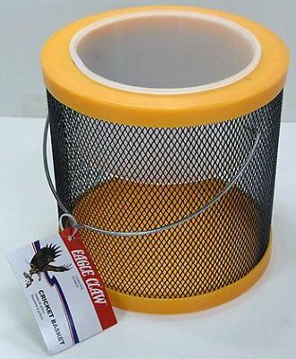 """(6) New Large Eagle Claw Cricket Baskets Yellow 6"""" X 6"""""""