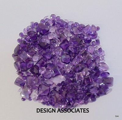Amethyst Faceted  Gemstone Parcel Over 100 Carats All Natural