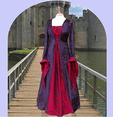 Medieval Renaissance Gothic gown costume fancy dress Halloween Whitby spiderweb