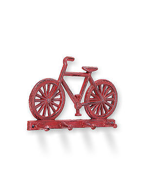 Abbott Collection Bicycle Wall Hook, Antique Red