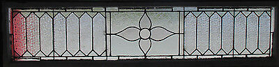 Big Antique American Stained Glass Transom Window 84 X 21 Architectural Salvage