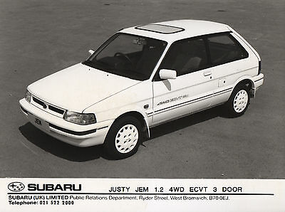 Subaru Justy Jem 1.2 4WD ECVT 3-Door Press Photograph