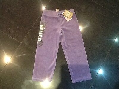 NWT Juicy Couture New & Gen. Girls Age 3 Purple Velour Tracksuit Pants With Logo
