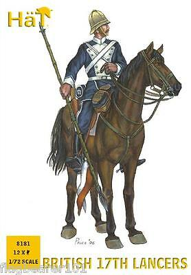 HAT 8181  BRITISH 17th LANCERS. COLONIAL ERA.  1/72 SCALE PLASTIC FIGURES