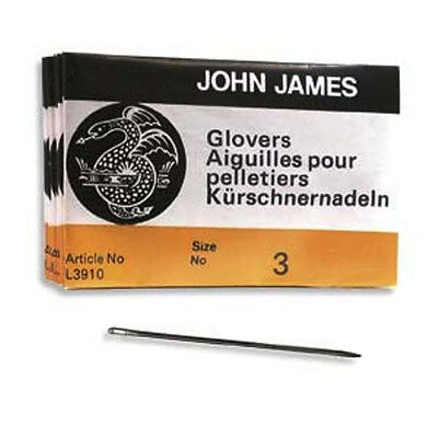 25 SIZE THREE (#3) GLOVERS NEEDLES - Perfect for Leather!