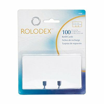 Rolodex Rotary File Card Refills, Unruled, 2-1/4 Inches Inchesx 4 Inches, 100