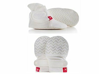 Goumikids Organic Mitts & Booties Bundle, Soft Stay On Scratch Proof Mittens New
