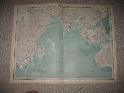 Fine Set Of 6 Antique 1922 India Times Atlas Map Southern Northern Ocean Farther