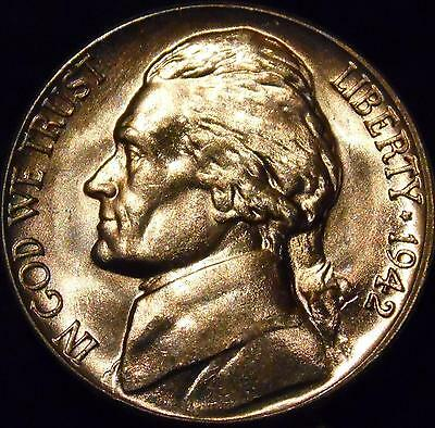 1942-D Jefferson Nickel Gem BU Uncirculated Full Steps