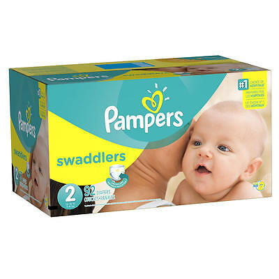 New Pampers Swaddlers Size 2 Diapers Super Pack - 92 Count Model:18515980