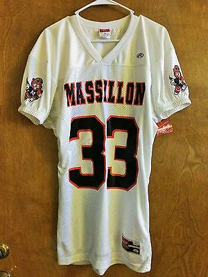 NWT Massillon Tigers Vintage Rawlings Football Jersey #33 OBIE sleeves Spielman
