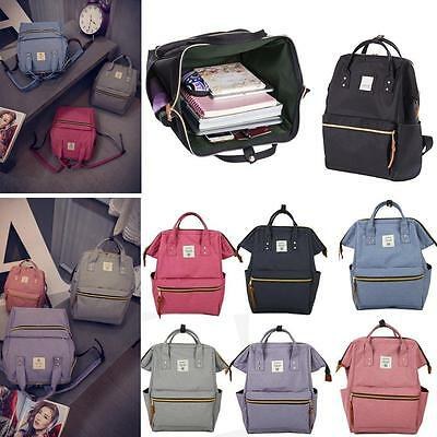 Classic School Backpack Canvas Tote Daypack Outdoor Travel Medium Book Bags SP