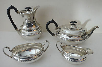 Solid silver 4 pce Tea set tr oz Sheffield 1959 good condition & hallmarks