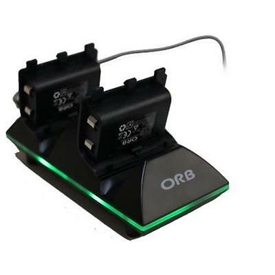 ORB Dual Controller Charge Dock & Battery Pack For Xbox One NEW