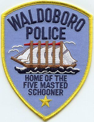 WALDOBORO MAINE ME Home of The Five Masted Schooner POLICE PATCH