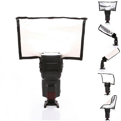 Plegable Reflector Speedlite Snoot Haz Tubo Caja Suave Flash Difusor