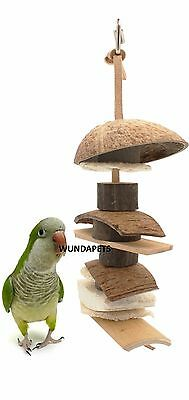 Natures First Natural Coconut Kebab  Parrot Cage Toy Wood Sisal Bamboo 21213