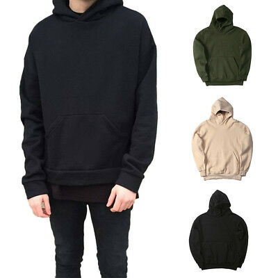 New Men's Adult Unisex Hoodie Hip Hop Pullover Basic Plain Casual Sports Outwear
