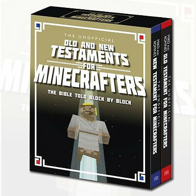 Unofficial Bible for Minecrafters Old & New Testament Collection 2 Books Box Set