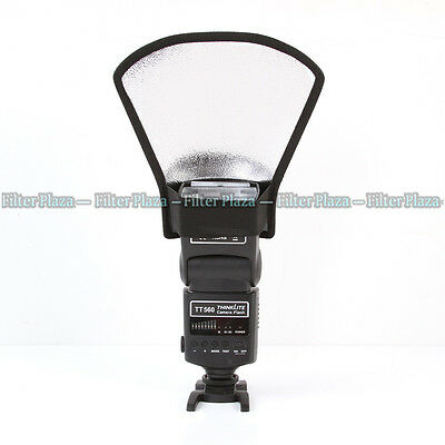 Universal Difusor De Flash Softbox Plata/Blanco Reflector para Speedlite/