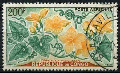 Congo 1961 SG#10, 200f Flowers, Air Used #D35365