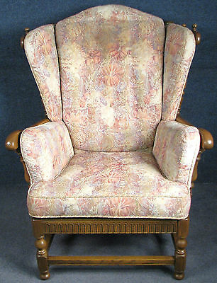 Ercol York Minster Solid elm High Back Armchair / Easy Chair 881 Golden Dawn