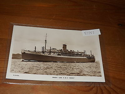 Old SHIP  postcard our ref #53753 ORIENT LINE RMS ORION RP