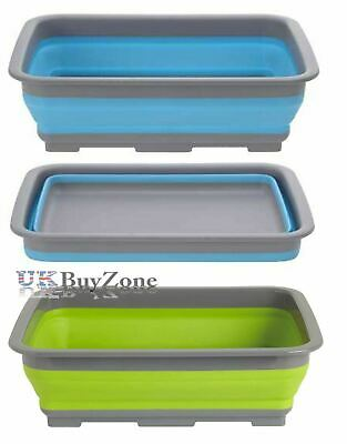 Foldable Collapsible Washing Up Bowl Dishwashing Camping Travel Caravan Kitchen