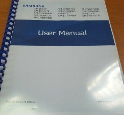 Samsung Galaxy J5 J500F Full Printed Instruction Manual User Guide 103 Pages A5