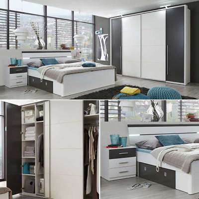 schlafzimmer komplettset bett 200x200 nachttische kleiderschrank kommode eur 1 00 picclick de. Black Bedroom Furniture Sets. Home Design Ideas