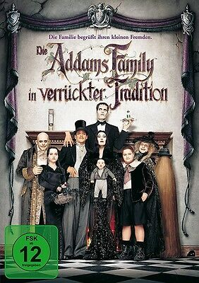 Die Addams Family In Verrückter Traditio   Dvd Neu