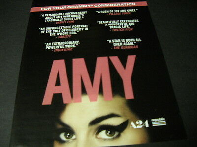 AMY WINEHOUSE For Your Grammy Consideration PROMO POSTER AD mint condition