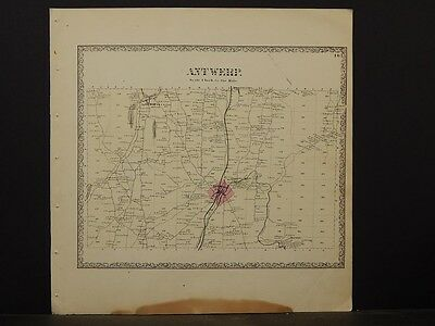 New York, Jefferson County Map, 1864 Town of Antwerp N4#36