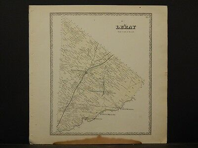New York, Jefferson County Map, 1864 Town of Leray N4#39