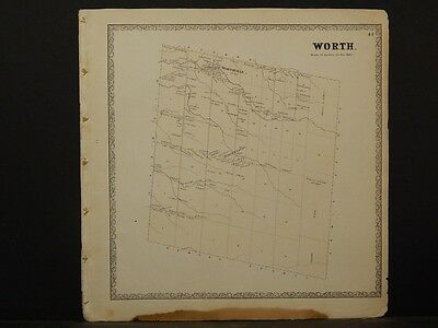 New York, Jefferson County Map, 1864 Town of Worth N4#46