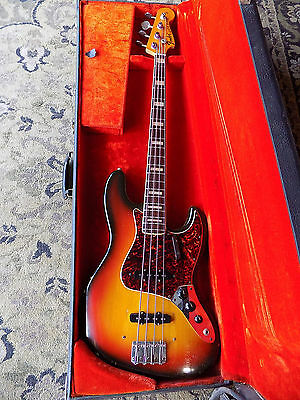 1972 Fender Jazz Bass SUNBURST FINISH rosewood board CBS vintage bound block
