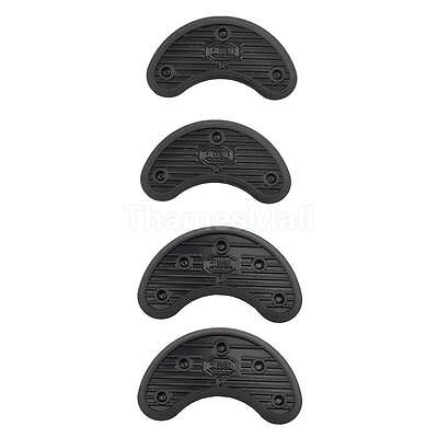 2 Pairs Stick on Sole Shoe Heel Tips Anti Slip Rubber Grip Pads Thick 3.1mm+4mm