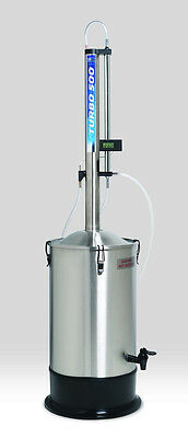 Turbo 500 Water distiller, Essential Oil Extractor with reflux tower new model.